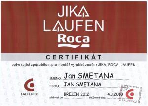Certifikát JIKA
