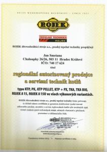 Certifikát Rojek