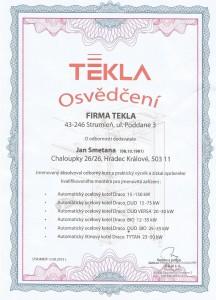 Certifikát TEKLA