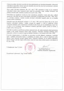 Registrace Český metrologický institut - dodatek